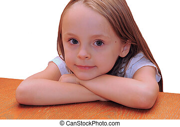 young girl looking innocent
