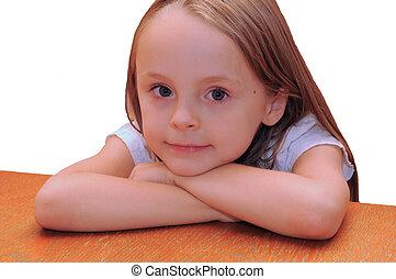 innocent - young girl looking innocent