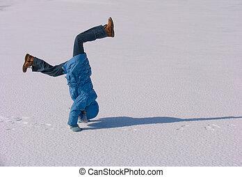 Cartwheel on the snow