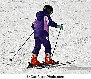 Young Girl on Skis