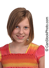Young girl - Picture of a young pretty pre teen girl