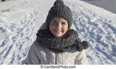 Young Girl Portrait in Winter Time