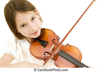 young girl portrait with violin