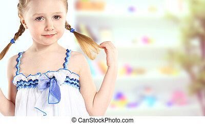 young girl poses for a picture