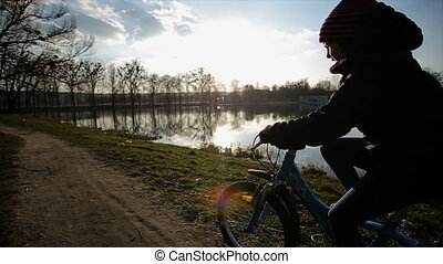 Young Girl Riding the Bike 4