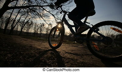 Young Girl Riding the Bike 5