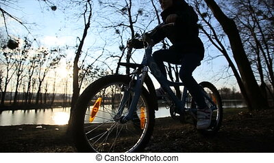 Young Girl Riding the Bike 6