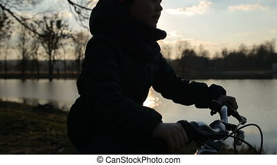 Young Girl Riding the Bike 7