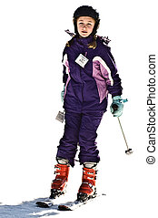 Young Girl Skiing