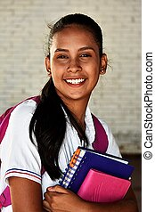 Young Girl Student Smiling