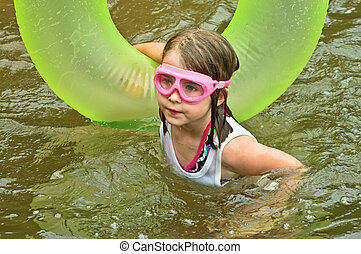 Young Girl Swimming