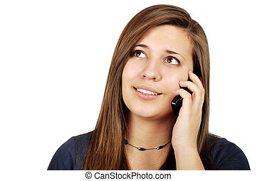 girl talking on cell phone