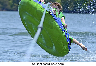 Young Girl Tubing