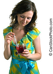 girl with a cocktail glass