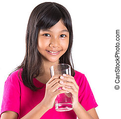 Young  Girl With A Glass Of Water