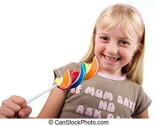 Young Girl with a Lollipop