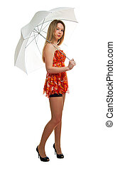 girl with a umbrella