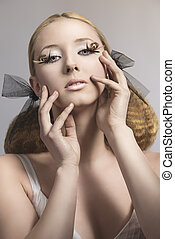 young girl with creative make-up