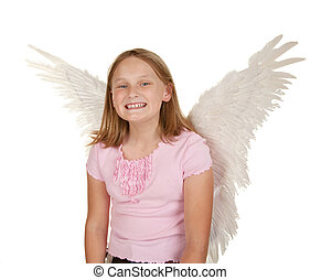 young girl with fairy wings