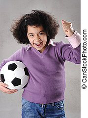 Young Girl with Football