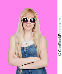Young girl with sunglasses