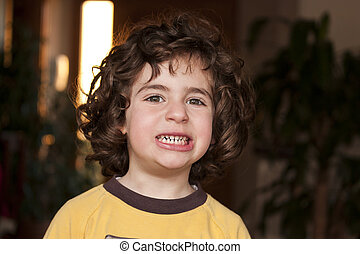 Young girl with toothy smile