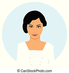 Young girl, woman face avatar