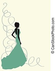 Young Girl/bride in beautiful gown