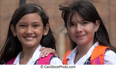 Young Girls  Friends