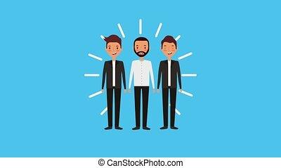 people work team animation hd