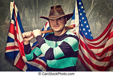 young guy in a cowboy hat