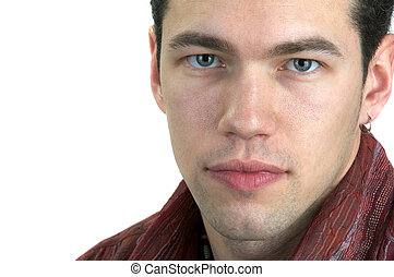 Young Man Looking At You (Isolated) With Space For Text