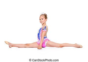 young gymnast girl