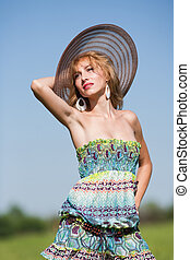 young hölgy, noha, színes, ruha