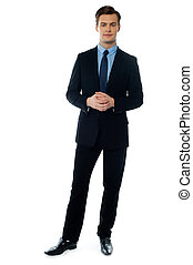 Young handsome man in black suit - Handsome businessman in...