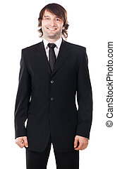 Young handsome man in elegant suit