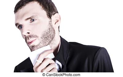 Young handsome man. Studio fashion portrait