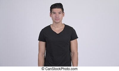 Young handsome multi-ethnic man - Studio shot of young...