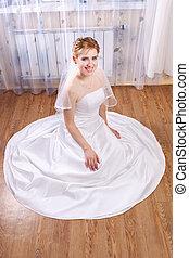 Young happy bride