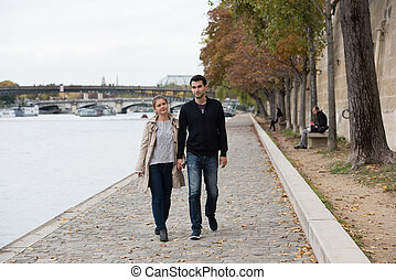 young happy couple in Paris