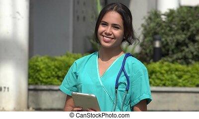 Young Happy Female Nurse