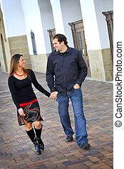 Young Happy Smiling Attractive Interracial Couple