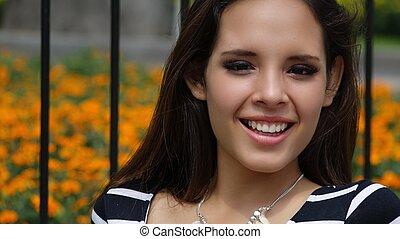 Young Happy Teen Girl