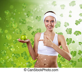 Young healthy woman doing sport