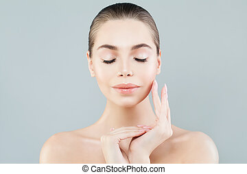 Young Healthy Woman. Spa Beauty