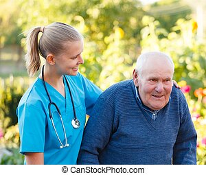 Young helpful doctor - Kind helpful doctor giving support to...