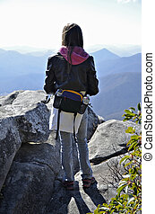 Young Hiker on an Overlook
