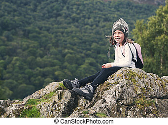 Young Hiking Girl in the Lake District