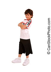 Smiling Young Boy Hip Hop or Break Dancer