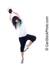 young hip-hop dancer posing